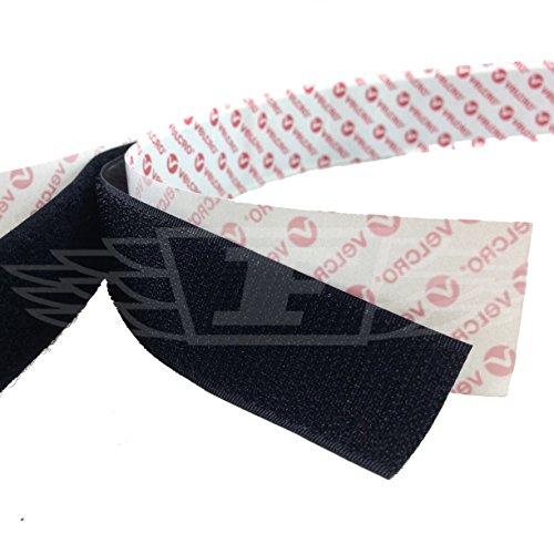 1 Meter x 25mm BLACK VELCRO® BRAND SELF ADHESIVE PS14 HOOK & LOOP - FREE UK DELIVERY