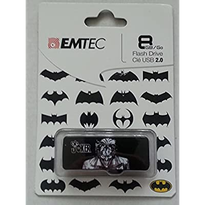 EMTEC - Batman Guardian - Joker 8GB USB 2.0 Flash Drive - Black