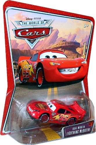 Buy Low Price Mattel BUG MOUTH LIGHTNING MCQUEEN #07 Disney / Pixar CARS 1:55 Scale THE WORLD OF CARS Die-Cast Vehicle Figure (B003DX094I)