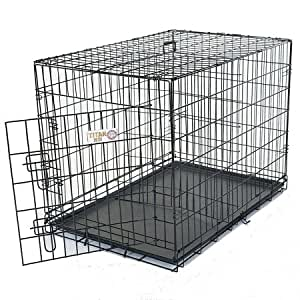 Majestic Pet 42-Inch Single Door Folding Dog Crate, Large