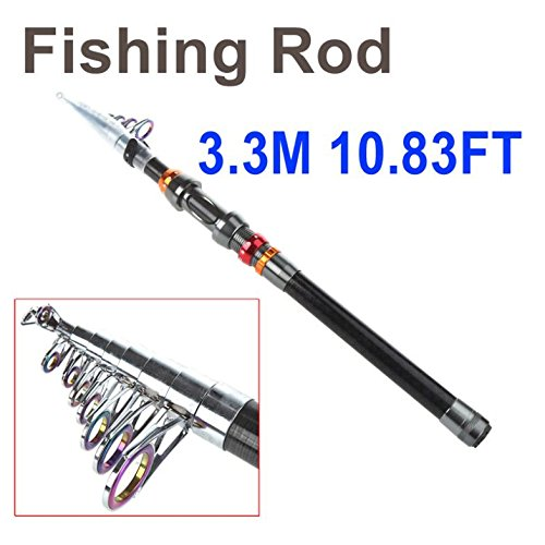 3.3M 10.83Ft Portable Telescope Fishing Rod Travel Spinning Fishing Pole