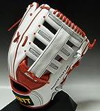 ゼット(ZETT)軟式プロステイタス外野手用楽天鉄平型BRGE46ホワイト×レッド右投げ
