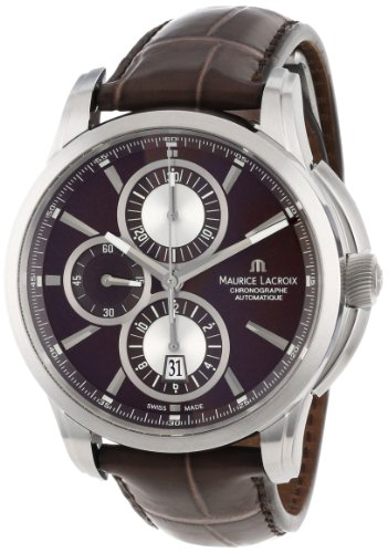 Maurice Lacroix PT6188-SS001730 - Reloj de pulsera hombre, piel, color marrón
