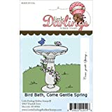 Little Darlings Unmounted Rubber Stamp-Bird Bath