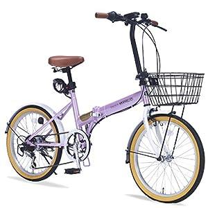 My Pallas(マイパラス) 折りたたみ自転車 M-252 20インチ 6段変速 オールインワン オーキッド