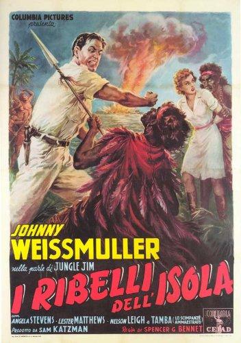 "Savage Mutiny-Poster Movie Costruzione In 11 17 x 28 cm x 44 cm, motivo: ""Johnny Weissmuller Angela Stevens Lester Matthews Nelson Leigh Charles Stevens Paul Marion"