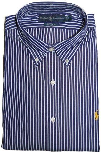 Ralph Lauren Casual Shirt Navy Stripe (Large)