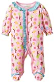 Happi by Dena Baby-Girls Newborn Woodland Owl Footie