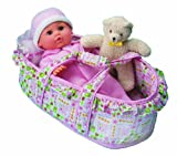 All About Baby Doll Little Bassinet Baby Baby Doll (Beth)