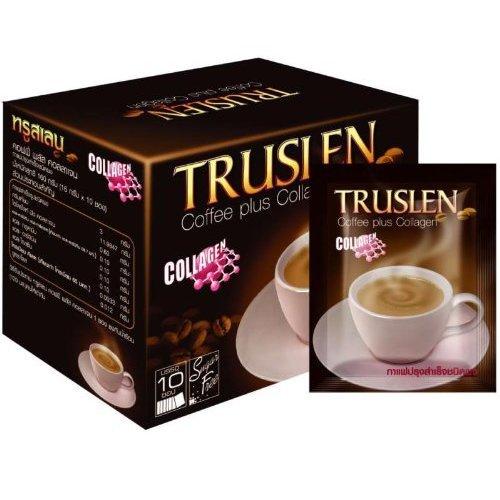 Truslen Plus Collagen Sugar Free Instant Coffee Diet Slimming 2 Box = 20 Sachets