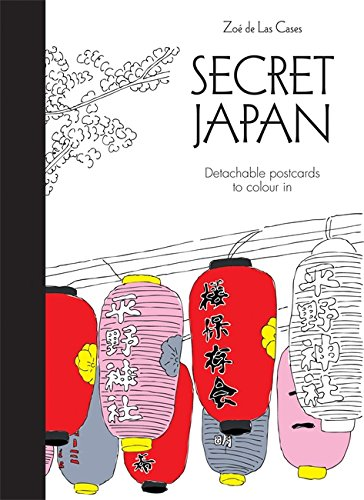 Secret Japan Postcards (Colouring for Mindfulness)