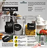 Chalky Talky 36 Reusable Large Chalkboard Labels Variety Pack - Larger Sized Great For Kitchen Storage - Removable & Re-writable To Use for Canisters, Bins, & Jars, Especially Mason - Our Most Popular Assorted Pack Comes With Rectangles, Ovals, & Fancy Marquee Designs - See Reviews and Details Below