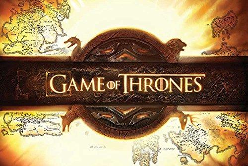 """Empire Interactive - Poster """"Game of Thrones, Logo"""" con accessori multicolore"""