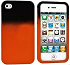 myLife Orange and Black - Two Tone Series (2 Piece Snap On) Hardshell Plates Case for the iPhone 4/4S (4G) 4th Generation Touch Phone (Clip Fitted Front and Back Solid Cover Case + Rubberized Tough Armor Skin)