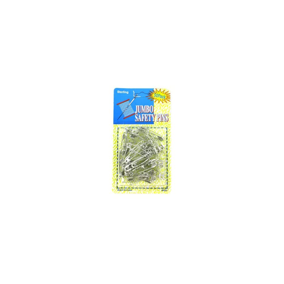 Bulk Pack of 144   Jumbo safety pins (Each) By Bulk Buys