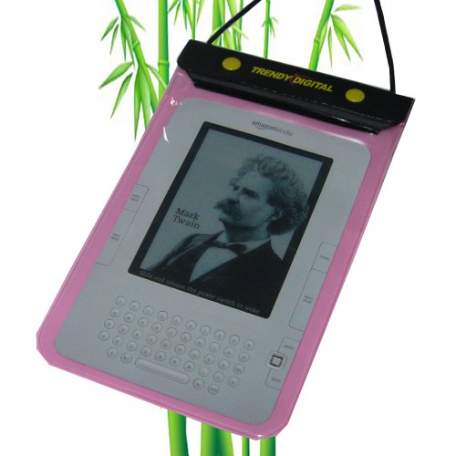 New Version TrendyDigital WaterGuard Waterproof Case for Kindle 1, 2,3 (First, Second and Third Generation Kindle), Kindle Fire and other 6″ or 7″ Android Tablet (Pink)