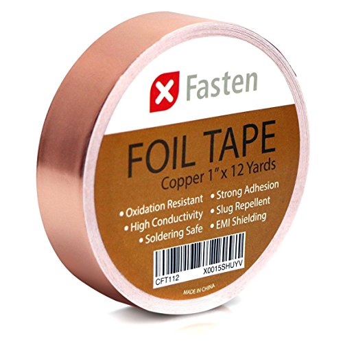 XFasten Copper Tape with Conductive Adhesive, 1-Inch x 12-Yards