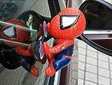 1pc/lot 16CM Spider ManToy Climbing Spiderman Window Sucker Spider-Man Doll Car Home Interior Decoration boneka pahlawan anak (Red)