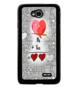 PrintDhaba Quote D-5025 Back Case Cover for LG L70 (Multi-Coloured)