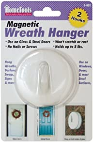 Magnetic Wreath Hanger 2-1/2″-White (…