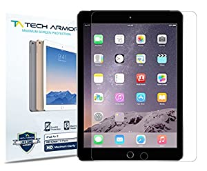 Tech Armor Apple iPad Air 2 / iPad Air (first generation) High Defintion (HD) Clear Screen Protectors -- Maximum Clarity and Touchscreen Accuracy [2Pack] Lifetime Warranty