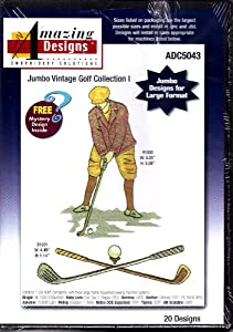 Amazing Designs Jumbo Vintage Golf Collection 1 Machine Embroidery Designs ADC5043 from Amazing Designs