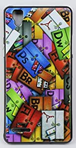 FCS Designer Back Case for Oppo F1 with Print In Glossy Finish Design-5