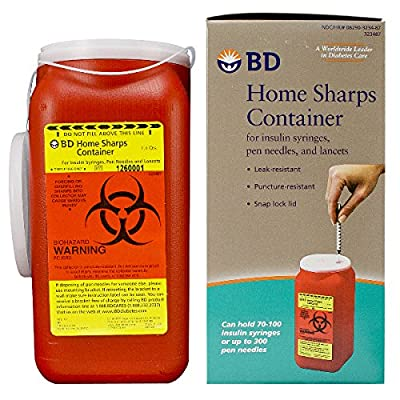 Becton Dickinson Home Sharps Container 1.4 Quarts (58323487) Category: Sharps Containers