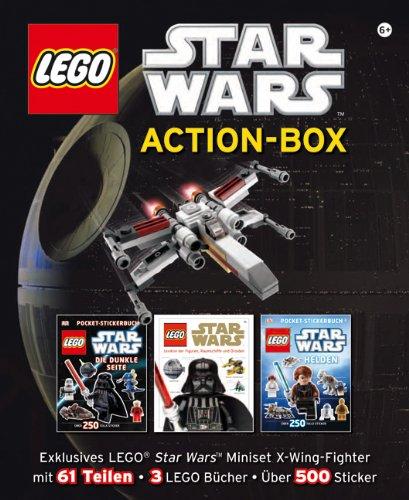 LEGO Star Wars ActionBox: Exklusives LEGO Star Wars Miniset mit XWingFighter mit 61 Teilen, 3 Lego Bücher und über 500 Sticker Picture