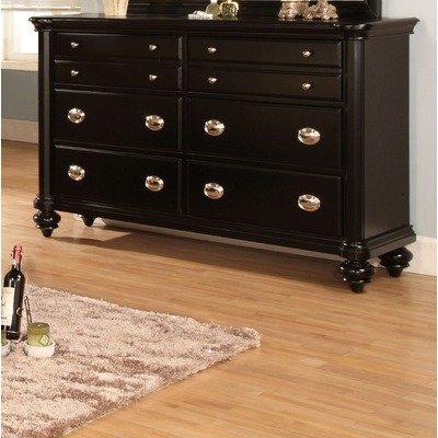 Distressed Black Dresser front-936963