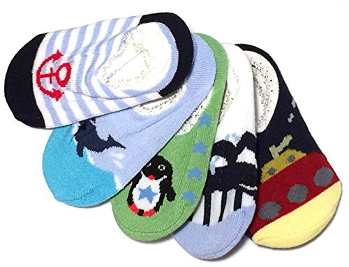 Baby Rae Anti-slip Foot Cover 5 Pairs - Sold and Ship From USA (Boy Combo A)