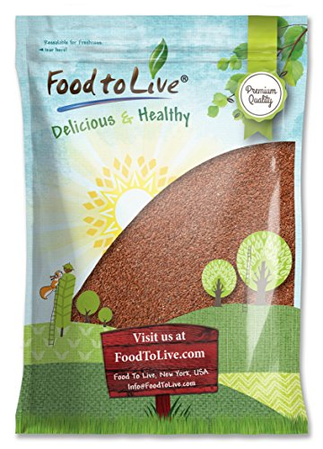 Food To Live Whole Flaxseed (Flax Seeds Bulk) (5 Pounds) (Flax Seed Roasted compare prices)