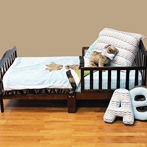 One Grace Place Puppy Pal Boy Toddler Set, Powder Blue, Sage Green, Chocolate Brown, Orange, White - 1