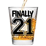 Finally 21 Shot Glass - 21st Birthday Gift - Celebrate Turning Twenty One