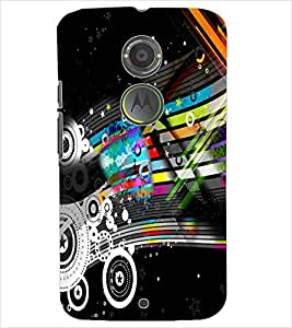 PrintDhaba NEW ERA ART D-6585 Back Case Cover for MOTOROLA MOTO X2 (Multi-Coloured)