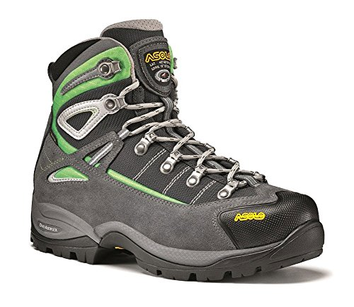 Asolo Women's Futura GORE-TEX Hiking Boot,Grey/Jade Green