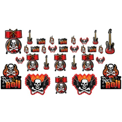 Rock On Rock and Roll Cutouts 30 Pack - 1