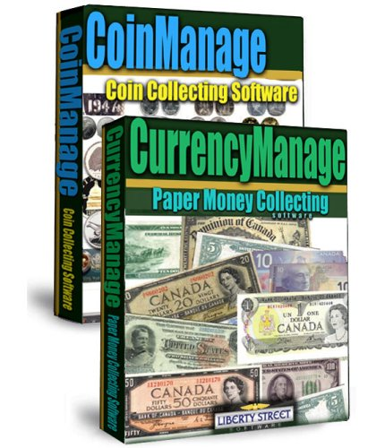 Coinmanage - Currencymanage Combo Coin Collecting - Numismatic Cd For Collectors: Manage Your Coin Collection (Windows Software)
