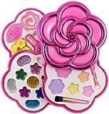 Love Girls Flower Shaped Cosmetics Play Set - Fashion Makeup Kit for Kids