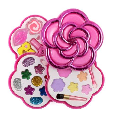 Love Girls Flower Shaped Cosmetics Play Set – Fashion Makeup Kit for Kids