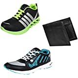 Earton Men Combo Pack Of 3 Sports Shoes With Wallet