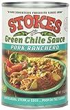 Stokes Green Chile Sauce Pork Ranchero, 15 Ounce