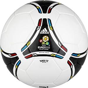 Amazon.com : adidas Euro 2012 Replique Soccer Ball (White, Black, Size