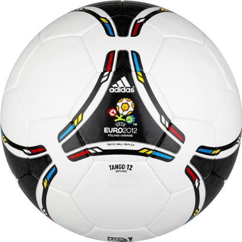Adidas Euro 2012 Replique Soccer Ball (White, Black, Size 5)
