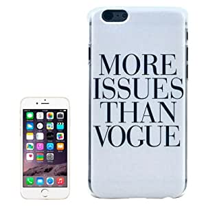 Crazy4Gadget MORE ISSUES THAN VOGUE Pattern Transparent Frame Colored Drawing Plastic Case for iPhone 6 Plus & 6S Plus