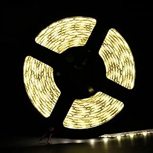 IMOS Warm White Waterproof 5050 300leds 5M(16.4ft) LED Flexible Strip Lights, Twice Brighter Than 3528 ever Before from Allround Housewife