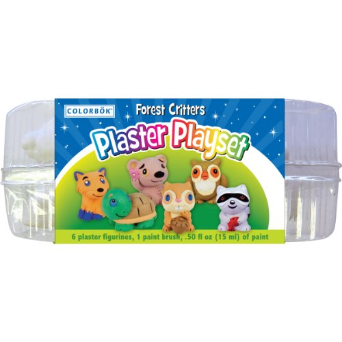 You Paint It Plaster Kit Value Pack-Forest Critters