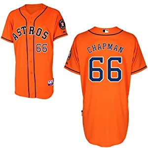 Kevin Chapman Houston Astros Alternate Orange Authentic Cool Base Jersey by Majestic by Majestic