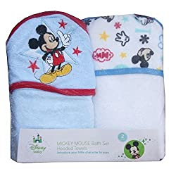 Mickey Mouse Hooded Towels Bath Set