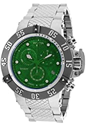 Invicta Subaqua Chronograph Green Dial Stainless Steel Mens Watch 20157